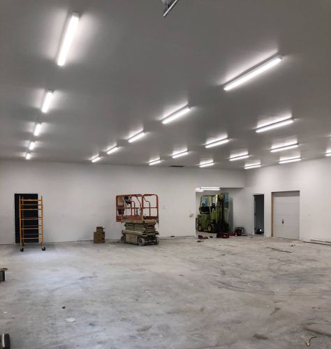 Warehouse space lighting Morrisville