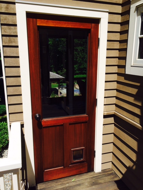 Mahogany Exterior Doors. After