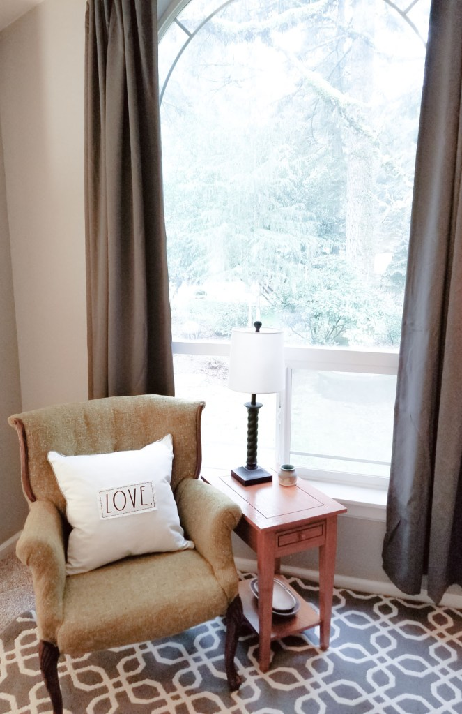 Create a sitting area in the bedroom