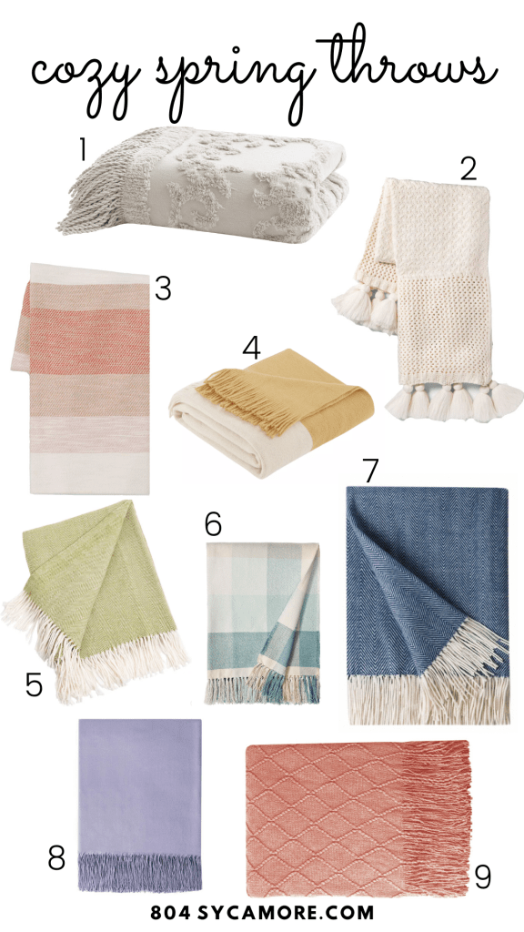 Affordable spring throws