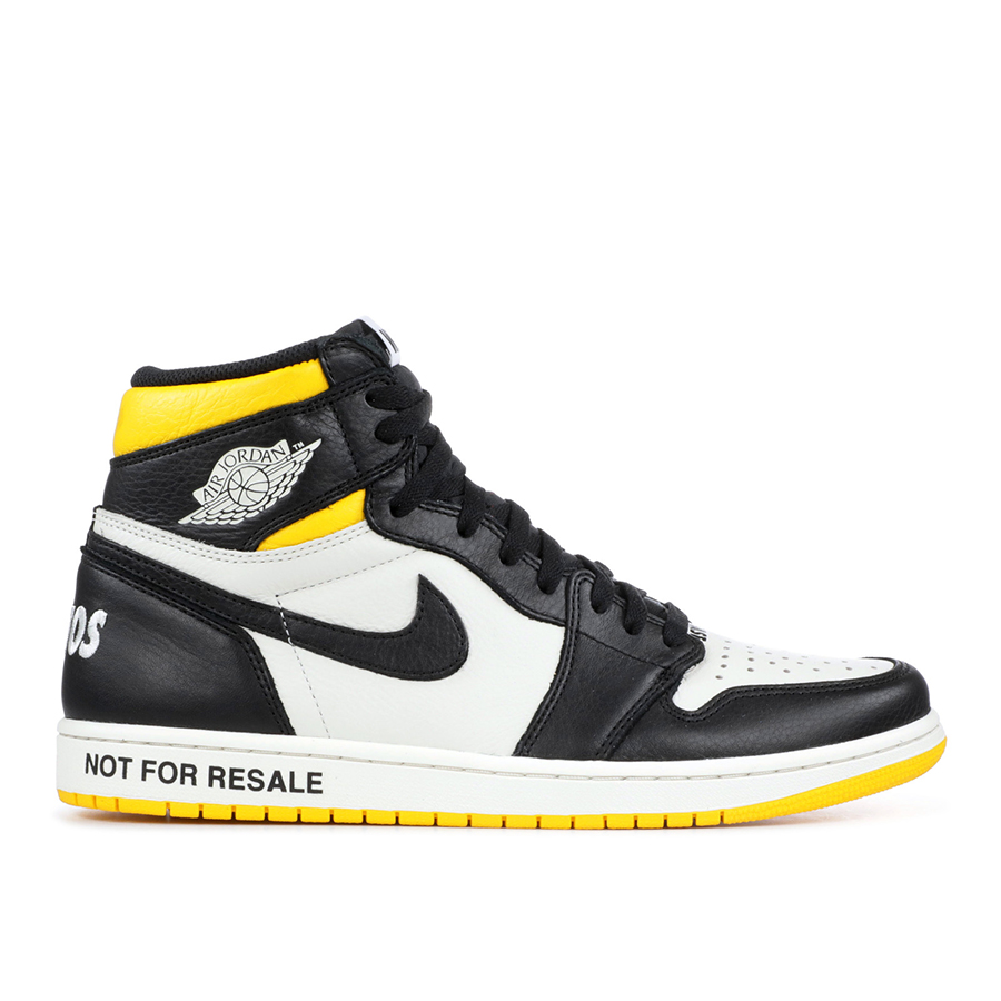Not For Resale Black Yellow 1's