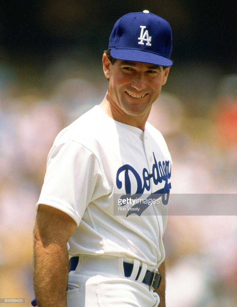 LOS ANGELES - UNDATED:  Steve Garvey of the Los Angeles Dodgers looks on during an MLB game at Dodger Stadium in Los Angeles, California.  Garvey played for the Dodgers from 1969-1982.  (Photo by Ron Vesely/MLB Photos via Getty Images)