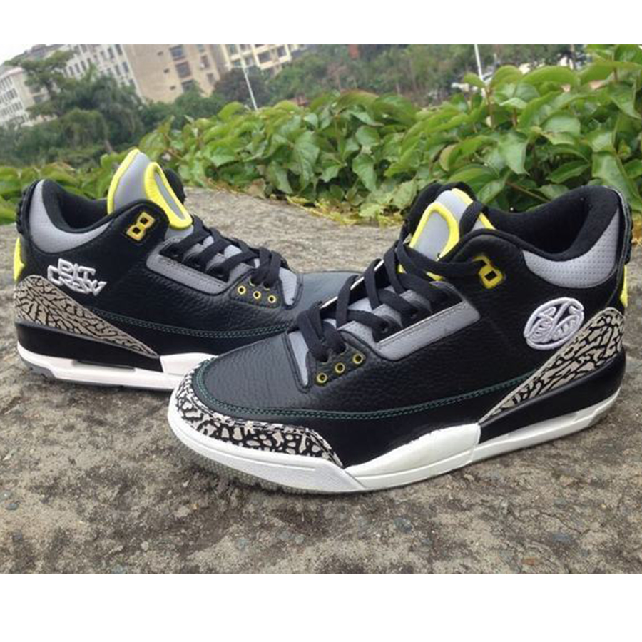 Oregon Black Cement 3's