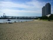 Man-made beach
