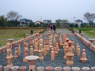 Haniwa sculptures