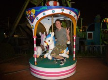 A youthful me on the merry-go-round