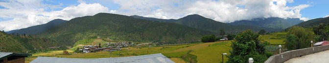 Panorama view from restaurant