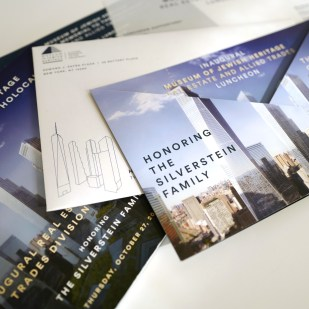Gala Invitation and Program Package for the Museum of Jewish Heritage