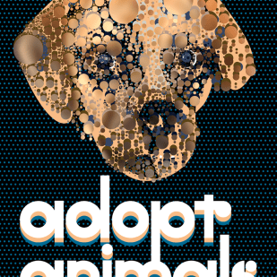 """""""Adopt Animals"""" Poster for Creative Action Network"""