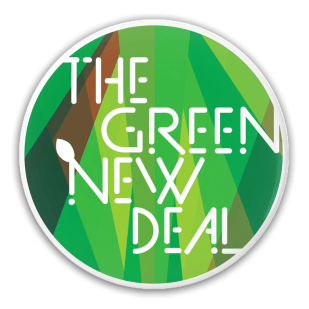 """The Green New Deal"" Button for Creative Action Network"