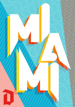 """Miami"" Poster for Show Us Your Type / Duvel"