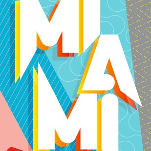 """""""Miami"""" Poster for Show Us Your Type / Duvel"""