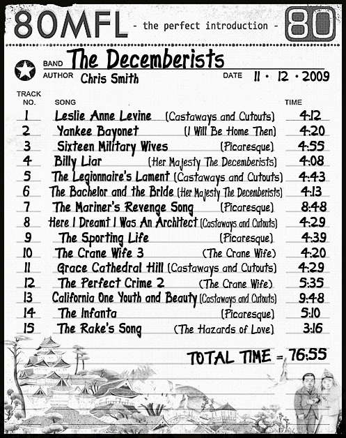 Click the list to hear The Decemberists for free on Lala.com!