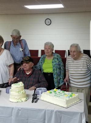Ezra Cason 98th Birthday WWII Vet 2016