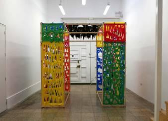 Ojalá te mueras hoy [I wish you die today], exhibition view. Garúa art space, Lima, Feb. 2016 Ojalá te