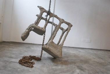 """Instalación de """"Los textos"""", 2012"""