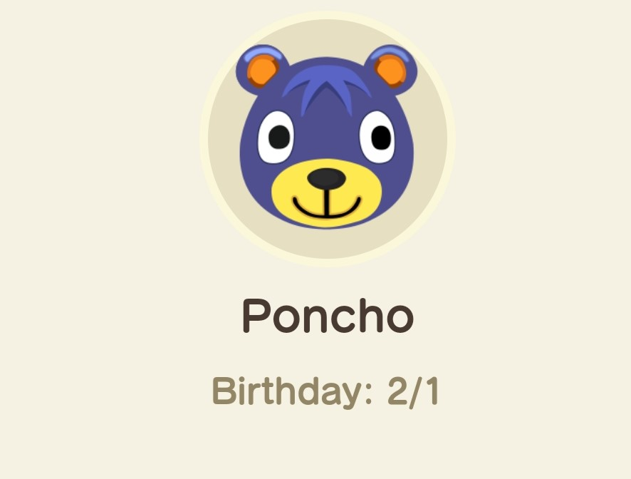 Animal Crossing New Horizons- poncho