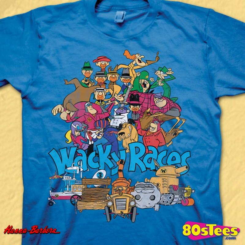 Wacky Races T Shirt Hanna Barbera Mens T Shirt