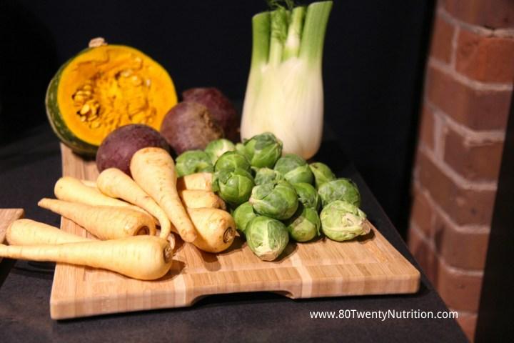 Roasted Winter Vegetables parsnips squash Brussels sprouts beets fennel budget-friendly Christy Brissette dietitian 80 Twenty Nutrition