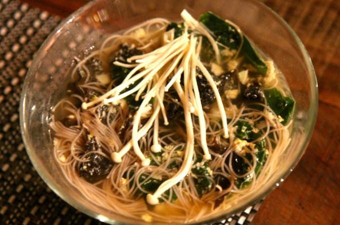 Black Fungus Egg Drop Ramen mushrooms Chinese comfort food - Christy Brissette dietitian 80 Twenty Nutrition recipe redux