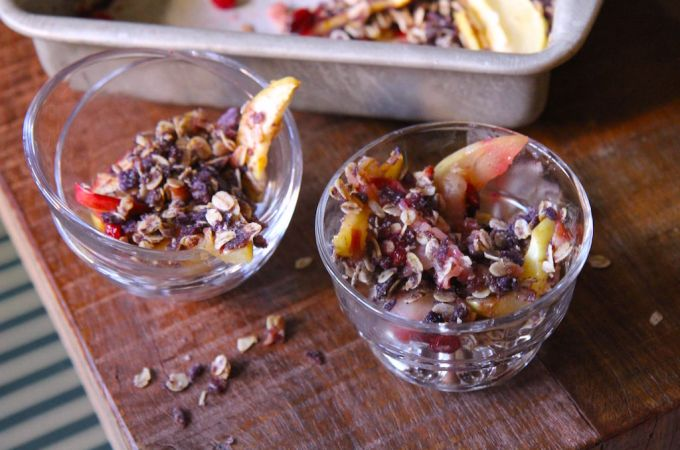 Apple Cranberry Crumble – Nut Free, Gluten Free and Vegan!