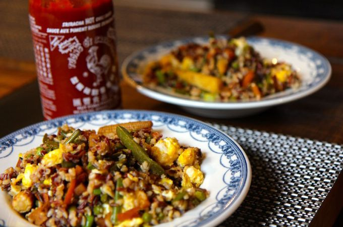 Healthy Egg Fried Rice – Vegetarian and Gluten Free