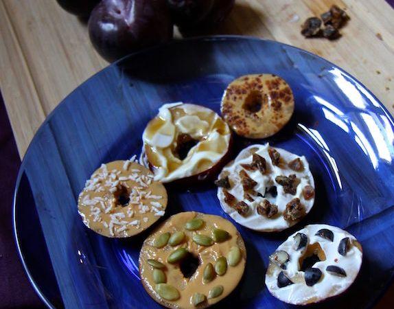 Sliced Plum Donuts – Easy Healthy Snack Hack!