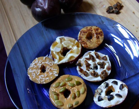 Sliced Plum Donuts – Easy Healthy Snack Hack!