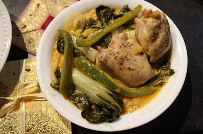 Thai Coconut Red Curry Chicken Thighs with Bok Choy – Paleo, Gluten-Free, Keto, Low Carb