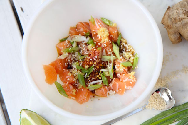 Sesame Salmon Poke – Low Carb, Sodium-Reduced and Gluten-Free!