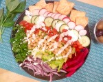 Vegan Shawarma Salad Plate - Gluten-Free - recipe by Christy Brissette, media registered dietitian nutritionist and President of 80 Twenty Nutrition
