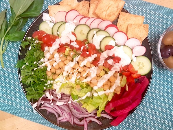 Vegan Shawarma Salad Plate – Gluten-Free!