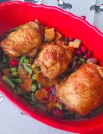 one pan chicken cranberries green beans holiday dinner