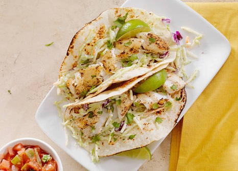 Best Ever Healthy Fish Tacos with Tangy Slaw