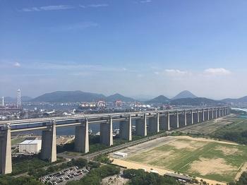 瀬戸大橋タワーからの景色
