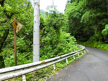 国道438号線から剣山まで22km