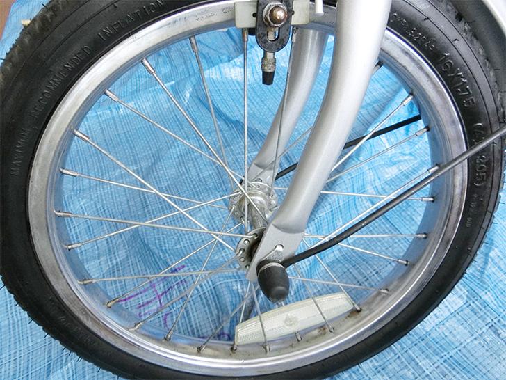 自転車のサビ取り後