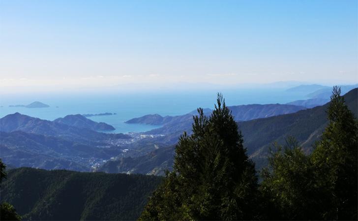 四国別格第7番出石寺からの景色