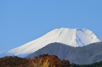 どうし道からみた富士山