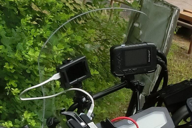アクションカメラの取り付け