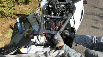 バンディット1250F・グリップヒーターの交換