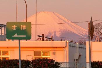 平塚PA・富士山