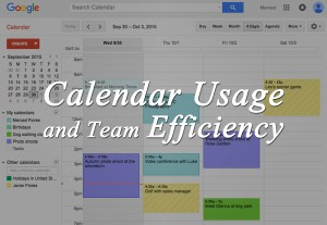 Calendar Usage and Team Efficiency