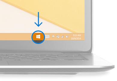 タスクバーに表示されるWindowsアイコン