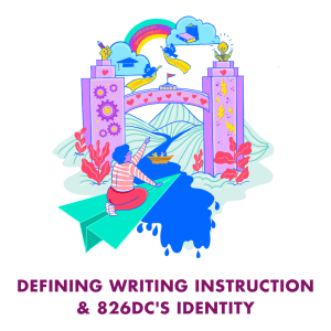 Defining writing instruction and 826DC's identity