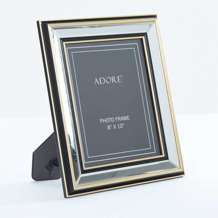 rectangular mirrored photo frame 8x10 inches