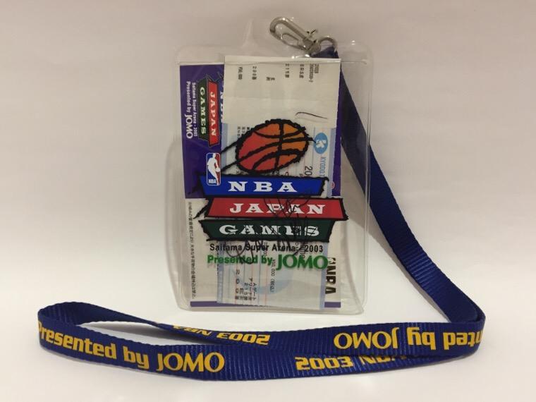 2003年 NBAジャパンゲーム デビッド・スターン サイン チケットホルダー