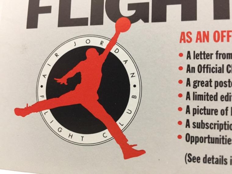 エアジョーダン フライトクラブ 申し込み用紙 ロゴ