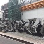 ナイキエンプロイストアの工事用外壁がアートだった