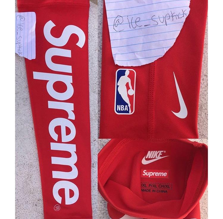 シュプリーム ナイキ NBA シューティングスリーブ